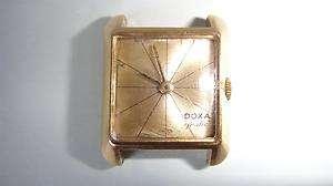 VTG RETRO 1950 18K SOLID GOLD DOXA GRAFIC LADY WATCH SWISS MADE