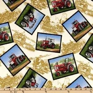 44 Wide International Harvester Tractor Blocks Ecru