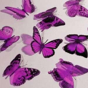 Butterfly 3D Translucent Decoration 12 PURPLE WIKI