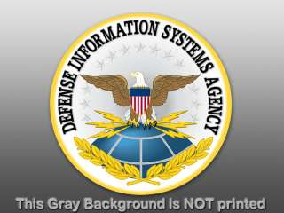 Round DSA Defense Seal Sticker  decal logo agency info