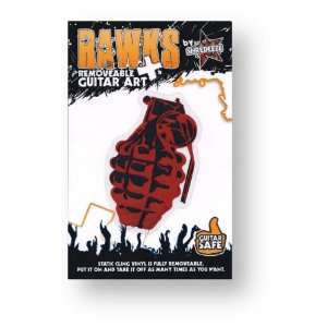 Grenade (Red/Black)   RAWKS Removable Guitar Art