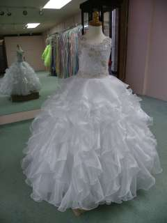 721 size 6 White GIRLS NATIONAL PAGEANT GOWN FORMAL QUINCEANERA