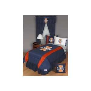 Illinois Fighting Illini Twin Sports Room Bedding Set