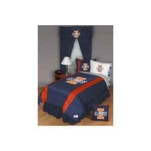 Illinois Fighting Illini Twin Sports Room Bedding Set