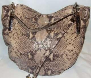 MICHAEL Michael Kors Julian Python Embossed Shoulder Bag Tote Handbag