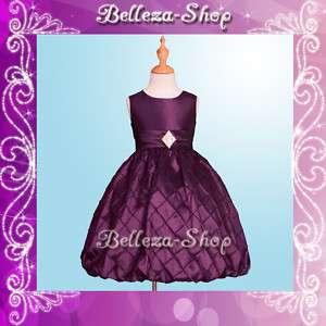 Purple Flower Girl Wedding Pageant Dress SZ 9 10 FG83PU