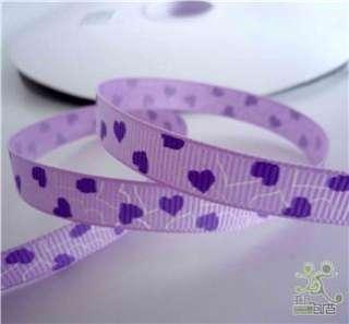 purple/pink/ valentine Grosgrain RIBBON lot 5 yard