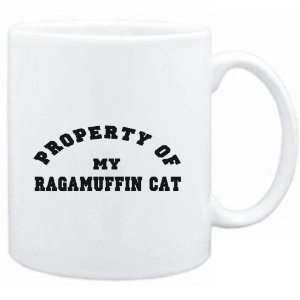 Mug White  PROPERTY OF MY Ragamuffin  Cats