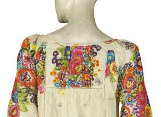NEW $118 EDME & ESYLLTE Anthropologie Floral Printed Cotton Blouse Top