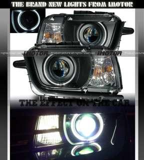 Camaro Black Dual CCFL Halo LH RH Projector Headlights Lamps