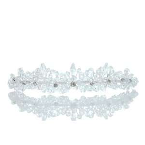 Wedding Rhinestone Crystal Beads Flower Prom Party Crown Tiara Beauty