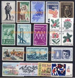 Scott # 1242   1260 1964 Commemorative Year Set 19 Stamps NH