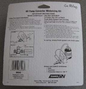 NEW CAMCO RV Pump Coverter Winterizing Kit EASY INSTALL