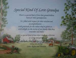 GRANDPA PERSONALIZED POEM FATHERS DAY GIFT JOHN DEERE
