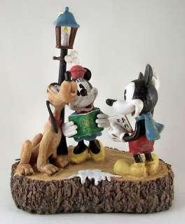 Disney MICKEY MINNIE & PLUTO Christmas Figurine NEW