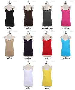 PLUS SIZE] Seamless Spaghetti Strap Tank Top Camisole ONE SIZE