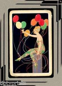 DECO Party Girl Champagne Toast 1920s FRAME READY Playing Card
