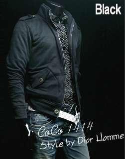 Designer Jacket Top Coats Shirts Military Black/Gray S M L XL 8905