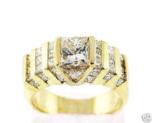 05 CT Ladys Diamond Engagement Ring 14K Yellow Gold