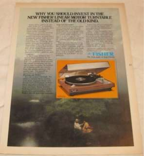 Vintage Fisher MT6225 Stereo Turntable PRINT AD 1978