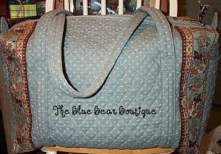 Vera Bradley Retired Rare Pewter Grey Large Duffel Bag