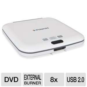 Polaroid RW108 Slim External 8x DVDRW Drive White