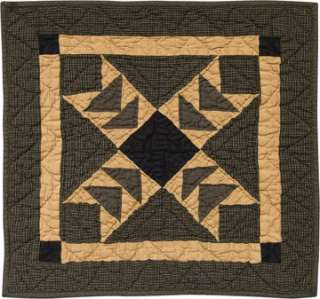BLACK FLYING GEESE QUILTED QUILT BLOCKN TEADYE WALLHANGING or TABLE