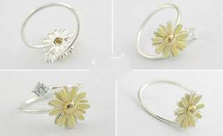 Women Fashion Rhinestone Sweet Cute Daisy Flower Ring New #FARING014