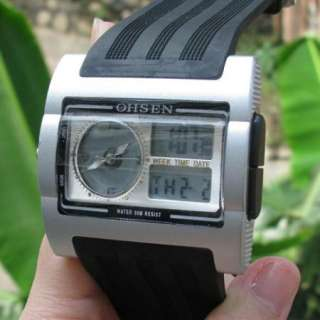 FREE POST OHSEN New Day Date Mens Sports Stop Watch Waterproof