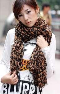 G1831 New Womens Fashion big leopard scarf shawls