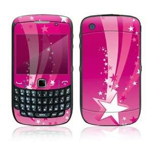 Pink Stars Decorative Skin Cover Decal Sticker for BlackBerry Curve