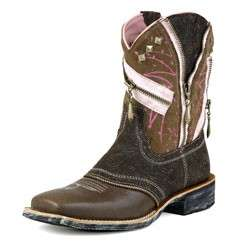NIB! ARIAT ZipitBaby Fat Baby Boots 10007861 Brown
