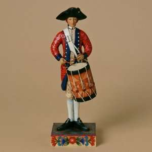 Enesco Jim Shore Williamsburg Drummer Figurine, 10 Inch