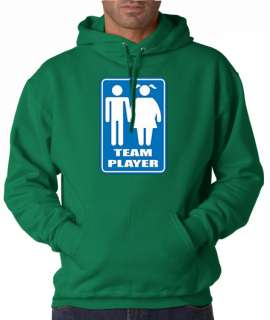 Team Player Funny Fat Girl 50/50 Pullover Hoodie