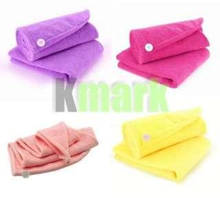 Magic Ladys Hair Drying Towel Cap Hat Quick Dry Bath