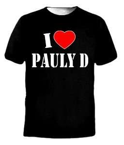 NEW* I Love Heart Pauly D JERSEY SHORE Tee T Shirt
