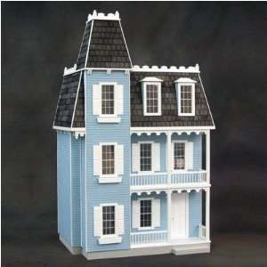 Finished Alison Dollhouse in Blue Toys & Games