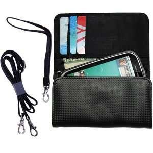 Black Purse Hand Bag Case for the Motorola Kobe with both