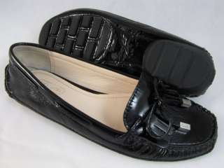 COACH WOMENS PADMA BLACK PATENT LOAFERS SHOES 6