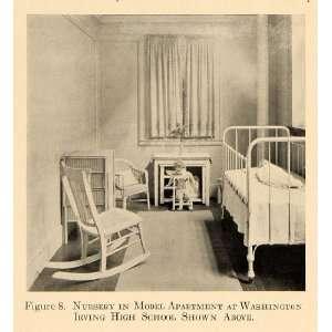 1918 Print Washington Irving High School Nursery Model