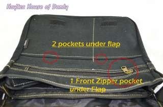 Laptop Cross Body Shoulder Flat Shoulder Messenger Bag  Black