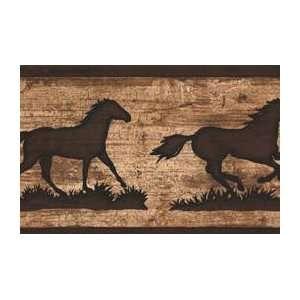 Horse Silhouette Wallpaper Border