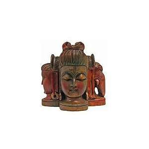 PARVATI SHIVA UNIQUE STATUE WOODEN ART INDIA HINDU GOD HOME DECORE