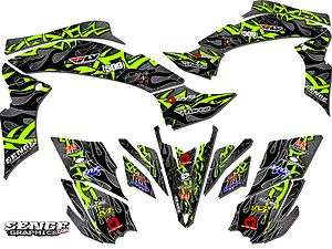 KFX 450R 450 R KAWASAKI GRAPHICS KIT DECALS DECO STICKERS FOUR WHEELER