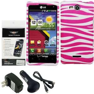 for the LG Lucid 4G VS840, Pink Zebra Cell Phones & Accessories