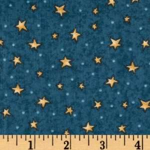 44 Wide Mans Best Friend Stars Teal Fabric By The Yard