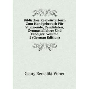 Und Prediger, Volume 2 (German Edition) Georg Benedikt Winer Books