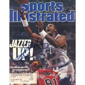 Karl Malone (Utah Jazz) Autographed Sports Illustrated