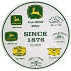 JOHN DEERE SINCE 1876 LOGOS ROUND METAL SIGN   BRAND NEW
