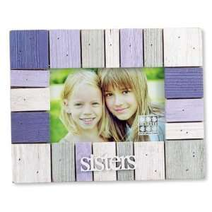 Wood Block Horizontal/Landscape Picture Frame 4x6: Home & Kitchen